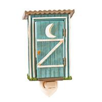 The soothing glow of this hand painted Outhouse Nightlight brings a comfy, cozy cabin feel to any spaces you wish to illuminate, with swivel plug.