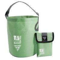 A small folding water bucket for easy washing at the campsite