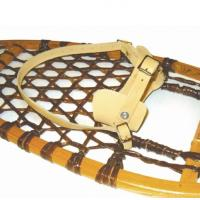 Made of genuine leather, these binding go on any tradition GV snowshoe and come in small, medium and large.