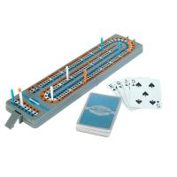 Full size 3 track folding cribbage board for travel or the trail