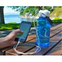 Replace your basic water bottle lid with one that can charge your phone or other devices on the go!