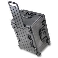 The Pelican 1620 case is equipped with an extra deep case, rubber wheels and a retractable extension handle.