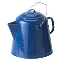 An enamel 20 Cup Coffee pot for a large group or heavy coffee drinker