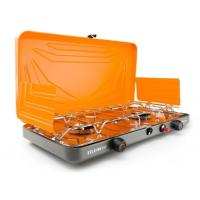 Ruggedly-reliable, twin-burner, high-output, propane camp stove