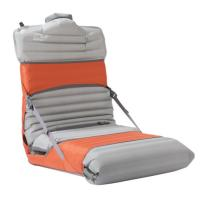 Trekker Chair uses ultralight nylon and fiberglass poles to turn your sleeping pad into a comfy portable chair.