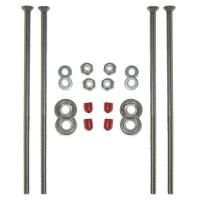 The perfect bolt kit to install canoe seats, made of high quality stainless steel.