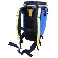 Portage your 60L or 30L canoe barrel comfortably & securely with this harness born from miles of experience on portage trails.