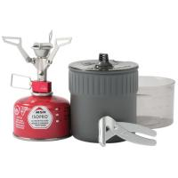 Ultra-compact cook and eat kit for solo backpackers, featuring the next-generation PocketRocket 2 micro stove.