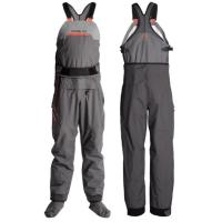 Designed for fishermen and paddlers, the Breakwater bib dry pant functions as a fishing wader or touring paddling top.