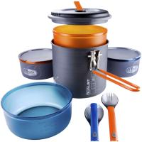 The fully integrated, self-contained GSI Pinnacle Dualist cookset gives 2 backpackers the all the ultralight essentials for backcountry dining.