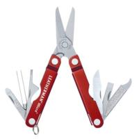A knife, tweezers, file, spring-action scissors and more packed into a 1.8 oz. keychain-sized multi-tool.
